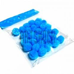 Набор декоративных помпонов для творчества и поделок, голубых, Ø1.5 см., REGINA