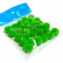 Набор декоративных помпонов для творчества и поделок, зеленых, Ø1.5 см., REGINA