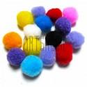 Набор декоративных помпонов для творчества и поделок, цветных, Ø2 см., REGINA