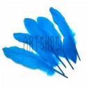 Набор натуральных декоративных перьев, голубых, 20 - 23 см., 5 штук, REGINA