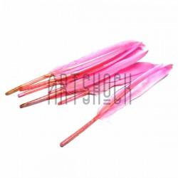 Набор натуральных декоративных перьев, розовых, 12 - 15 см., 8 штук, REGINA