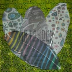 Набор натуральных декоративных перьев с рисунком, микс, 12 см., 4 штуки, REGINA