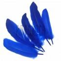 Набор натуральных декоративных перьев, синих, 20 - 23 см., 5 штук, REGINA