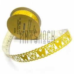 "Лента самоклеящаяся ""Бабочка желтая"" трафаретная, ширина 18 мм., длина 1 м."