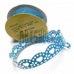 "Лента самоклеящаяся ""Сердце голубое"" трафаретная, ширина 18 мм., длина 1 м."