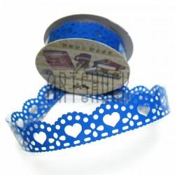 """Лента самоклеящаяся """"Сердце синее"""" трафаретная, ширина 18 мм., длина 1 м."""