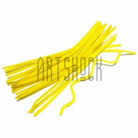 Желтая проволока шенил (синельная проволока, декоративный ёршик)