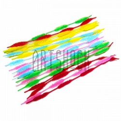 Фигурная цветная пушистая проволока шенил (синельная проволока, декоративный ёршик)