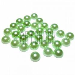 Набор зеленых декоративных перламутровых полубусин под жемчуг, Ø7 мм., 30 штук, REGINA