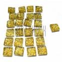Набор золотых керамических стеклышек для мозаики, витража и творчества, 10 x 10 мм., 25 штук, REGINA