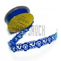 """Лента самоклеящаяся """"Цветок в узоре синий"""" трафаретная, ширина 18 мм., длина 1 м."""