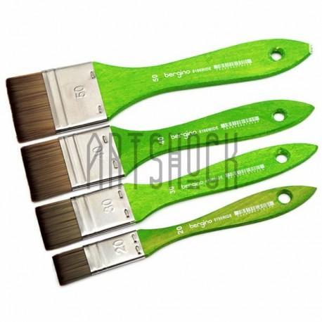 Кисть синтетическая, флейц плоская, 35 мм., Bergino