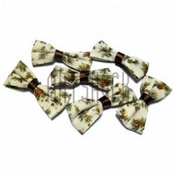 Набор декоративных тканевых бантиков (цветы), 4.5 см., 6 штук, REGINA