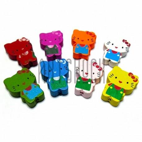 """Набор деревянных декоративных подвесок """"Kitty"""", 2.5 см., 8 штук, REGINA"""""""