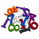 """Набор деревянных декоративных подвесок """"Цветные цифры"""", 2 см., 15 штук, REGINA"""