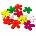 """Набор деревянных декоративных подвесок """"Цветы"""", Ø2.5 см., 12 штук, REGINA"""