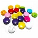 Набор пластиковых декоративных мини - пуговиц, с потайным ушком, Ø8 мм., 20 штук, REGINA