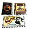 """Набор деревянных декоративных табличек с надписью """"Почтовая марка"""", 2.5 x 4 см., 3 штуки, REGINA"""
