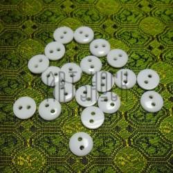 Набор пластиковых декоративных пуговиц, белые, Ø0.8 см., 20 штук, REGINA