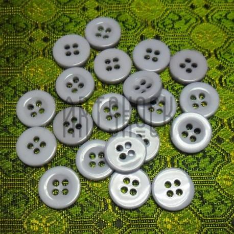Набор пластиковых декоративных пуговиц, сиреневые, Ø1.1 см., 20 штук, REGINA