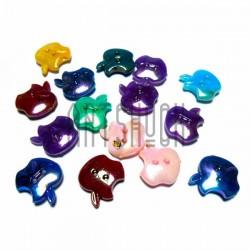 """Набор цветных пластиковых декоративных пуговиц """"Apple"""" перламутровых, 1.5 x 1.7см., 15 штук, REGINA"""