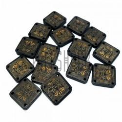 Набор деревянных декоративных табличек с узором, 1.6 x 1.6 x 0.3 см., 15 штук, REGINA