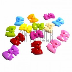 """Набор цветных пластиковых декоративных пуговиц """"Бантики"""", 1.4 x 1 см., 15 штук, REGINA"""