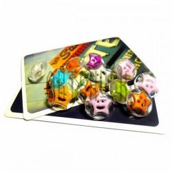 """Набор цветных пластиковых декоративных пуговиц """"Звезда - смайл"""" на прозрачной основе, Ø1.3 см., 12 штук, REGINA"""