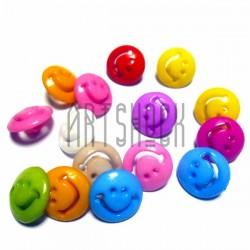 """Набор цветных пластиковых декоративных пуговиц """"Смайл"""", Ø1.5 см., 15 штук, REGINA"""
