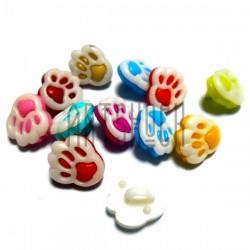 """Набор цветных пластиковых декоративных пуговиц """"Лапки малые"""", 1.3 x 1.2 см., 12 штук, REGINA"""