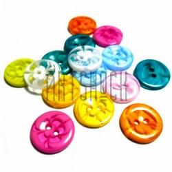 Набор цветных пластиковых декоративных пуговиц, Ø1.2 см., 15 штук, REGINA