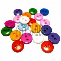 Набор цветных пластиковых декоративных пуговиц, Ø0.8 см., 20 штук, REGINA