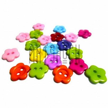 """Набор цветных пластиковых декоративных пуговиц """"Цветок"""", Ø1 см., 20 штук, REGINA"""