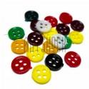 Набор цветных пластиковых декоративных пуговиц, Ø7 мм., 20 штук, REGINA