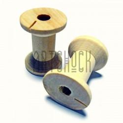 Набор неокрашенных деревянных декоративных катушек для ниток, Ø2.1 x 3 см., 2 штуки, REGINA