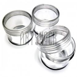 Баночка прозрачная пластиковая с завинчивающейся крышкой для красок, косметических кремов, лаков. Купить в Украине