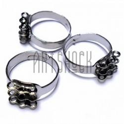 Набор заготовок (основ) для колец, регулируемых, на 9 петель, 3 штуки, REGINA