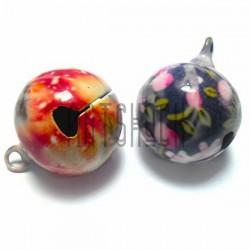 Набор бубенчиков металлических декоративных цветных Hand Made, Ø2 см., 2 штуки, REGINA