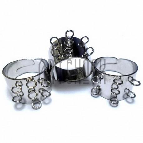 Набор заготовок (основ) для колец, регулируемых, на 7 петель, 3 штуки, REGINA