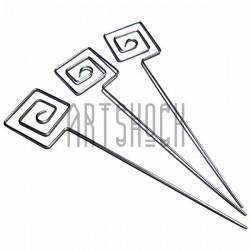 """Набор металлических держателей для фото """"Квадрат"""", 13 см., 3 штуки, REGINA"""