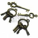 """Набор металлических подвесок винтажных """"Ключи"""", """"античная латунь"""" для скрапбукинга, 1.6 - 3.6 см., 4 штуки, REGINA"""