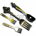 """Набор металлических подвесок """"Столовые предметы"""", """"античная латунь"""" для скрапбукинга, 3.2 - 6.2 см., 4 штуки, REGINA"""