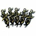"""Набор металлических подвесок """"Заяц"""", """"античная латунь"""" для скрапбукинга, 3 см., 5 штук, REGINA"""