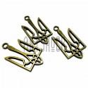 """Набор металлических подвесок - кулон """"Тризуб Воля"""", размер 2.7 х 1.6 см., 3 штуки, REGINA"""