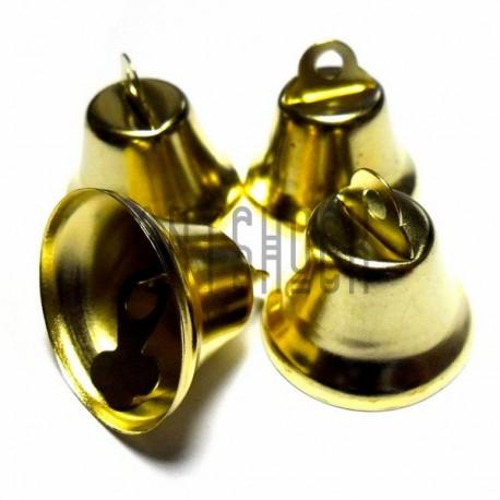 Набор колокольчиков металлических декоративных золотых, Ø2.5 см., высота 2.5 см., 4 штуки, REGINA