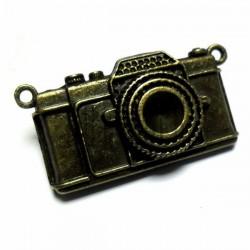 """Металлическая подвеска """"Фотоаппарат"""", """"античная латунь"""" для скрапбукинга, 2.8 x 5.5 x 0.8 см., 1 штука, REGINA"""