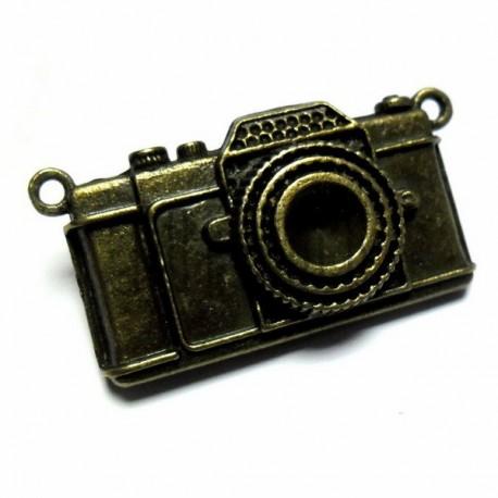 """Металлическая подвеска """"Фотоаппарат"""", """"античная латунь"""" для скрапбукинга, 2.8 х 5.5 х 0.8 см., 1 штука, REGINA"""