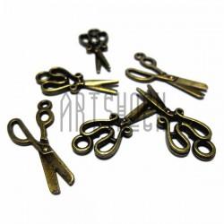 """Набор металлических подвесок """"Винтажные ножницы"""", """"античная латунь"""" для скрапбукинга, 3 см., 6 штук, REGINA"""