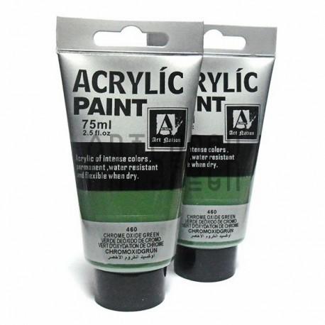 Краски акриловые художественные, Оксид хрома зеленый/ Chrome Oxide Green, 75 мл., Art Nation