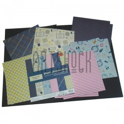 """Набор бумаги для скрапбукинга """"Classic Gentleman"""", 6 дизайнов по 2 листа, 12 листов, 15.2 х 15.2 см., 160 гр/м²., J & E"""